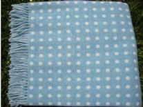 eau de nil spot lambswool throw blanket detail01