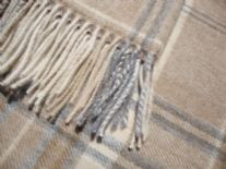 natural heather check throw blanket detail01