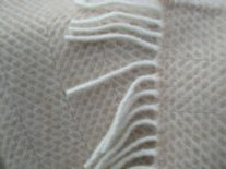 beige beehive pure wool throw blanket detail01