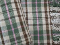 country check pure wool throw blanket detail01