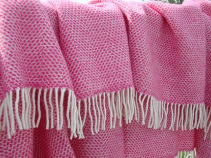 Hot Pink Beehivethrow Wool Throws Solway Blankets