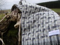 natural lambswool geometric throw blanket 01