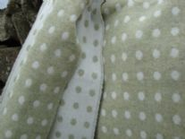 pistachio reversible spot lambswool throw blanket 01
