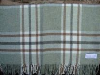 woodland green arncliffe check  blanket throw shetland wool 01