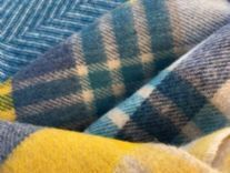 blue yellow melbourne check throw blanket 01