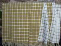 gold athens check lambswool throw blanket 03