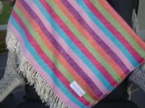 circus stripe lambswool throw blanket 09