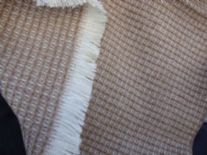 brown ochre croft waffle merino throw blanket 04