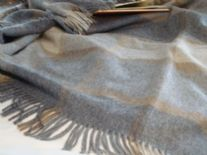 grey block windowpane merino throw blanket 02