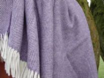 clover purple herringbone merino throw 05